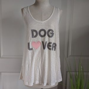 PJ Salvage Dog Lover Racerback Burnout Tank NWT